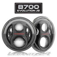 "JW Speaker 8700 J2 7"" Wrangler LED Scheinwerfer Carbon Set +Einbausatz ECE NEU"