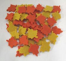 Dekoration 50 Herbstblätter Filz Blätter Herbstlaub Herbst Laub Basteln wie echt