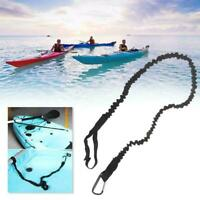Kayak Canoe Paddle Rod Leash Safety Rope Carabiner Boats Rowing Accessories W7F6