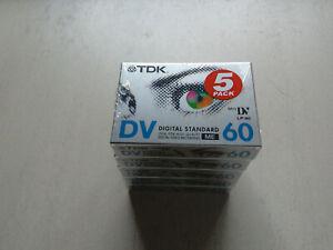 5x TDK Mini DV 60/90 NEU und OVP