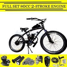 Full Set 80cc 2-Stroke Petrol Gas Motor Engine DIY Motorized Bicycle Bike Black