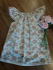 handmade baby dress size 1 cotton. Baby Animals in Spring