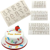 Letters and Numbers Silicone fondant mold cake decorating tool chocolate JF