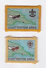 SCOUTS OF PAPUA NEW GUINEA - PNG SCOUT CHATTERTON AREA DISTRICT PATCH (2 VAR) E+