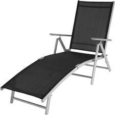 Tumbona Plegable Sillón Relax Terraza Playa Aluminio Camping Exterior Jardín