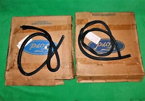 🔥 NOS 1964-1/2 65 66 MUSTANG COUPE GT RH & LH ROOF RAIL GLASS WEATHERSTRIPS