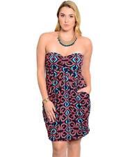 NEW..Stylish Plus Size Drapey Front Strapless Dress..SZ18/2XL