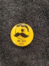 Vintage National Bohemian Beer Promotional 1973 Mr. Boh Pinback Button