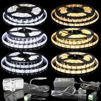 3528 5050 5630 5M White/Warm White 300 LED 12V Flexible Strip Light IP65 & IP20