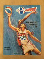 1969-70 ABA NEW ORLEANS BUCCANEERS @ LOS ANGELES STARS BASKETBALL PROGRAM