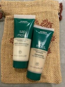 AVEDA 2 travel size Sap Moss GIFT PACK shampoo conditioner BAG