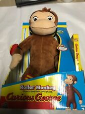 "PBS Kids Curious George 12"" Plush Monkey Roller Skating New 2008"