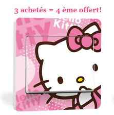 """Autocollant Interrupteur """"HELLO KITTY"""" Switch Sticker Déco Murale 9×9 cm Réf 02"""