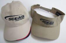 SCE&G A SCANA COMPANY ADJUSTABLE HAT (KHAKI) & VISOR (TAN) LOT, OSFM, LEGEND, EX