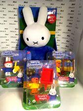 "Miffy 12"" Plush w/Sound & Grunty, Poppy & Miffy from Miffy's Adventures Big & Sm"