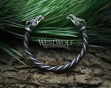 Silver Viking Phoenix Torc / Bracelet --- Norse/Jewelry/Celtic/Dragon/Eagle/Bird