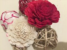 Gift Pack Mix Rattan Balls Red Colour Sola Flower Rose Scented Flower