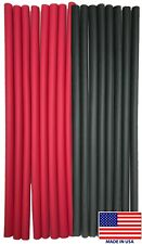 """(16) 12"""" Black Red Heat Shrink Tubing 3/8 Dual Wall Adhesive Glue Lined Wrap 3:1"""
