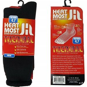 "MENS HEATED THERMO SOX  INSULATED SOCKS   "" 4.7 Tog rating & Ski Fur Lined """