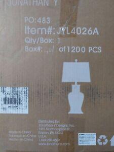 Julian 29 in. White/Gold Ceramic Table Lamp