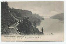 NY ~ Trolley along Gorge NIAGARA FALLS New York c1905 Niagara County Postcard