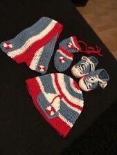 Baby Set Mütze Handschuhe Schal Schuhe gehäkelt neu Schiff