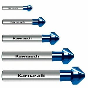 Karnasch Kegelsenker 90°, Senker, CBN, Vollhartmetall VHM, Blue-Tec, Ø 6,3-31 mm