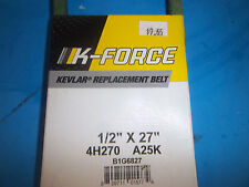 "NEW K FORCE V BELT 1/2"" X 27"" B1G6827 FREE SHIPPING"