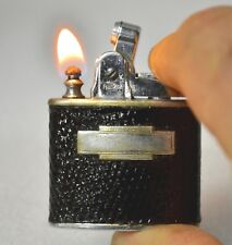 "Vintage Ronson ""STANDARD "" Leather Pocket Lighter in Working Condition"