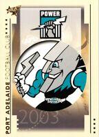 ✺New✺ 2003 PORT ADELAIDE POWER AFL Card CLUB LOGO Select XL