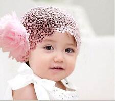 bebé Niña Diadema rosa encaje Flor Cinta Regalo Nuevo para bebé  0a53f109505