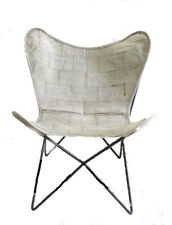Illustrious Silver Chair Iron Stand With Leather Cover for Indoor Outdoor