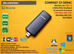AC1900 USB 3.0 Wlan 802.11AC 1300Mbps 2.4Ghz 5Ghz RTL8814AU Linux Hackintosh