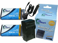 2x Battery +Charger +Car Plug +EU Adapter for Nikon Coolpix S550, Coolpix S560