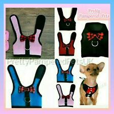 Chihuahua Teacup Puppy Bow Tiny Kitten Cat Harness Coat + FREE LEASH