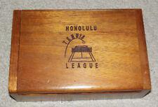 5-7/8 inch hawaiian koa wood jewelry box. honolulu tennis league hawaii