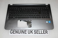 TESTED SILVER HP Pavilion 15-AB 15-ab254sa Palmrest Cover UK Keyboard BLACK