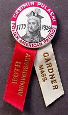 CASIMIR PULASKI POLISH AMERICAN PATRIOT Revolutionary War Hero pinback button +