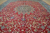 9'8 x 12'9 Plush Pile Signed Hand Knotted Wool Area Rug 10 x 13 Oriental Carpet