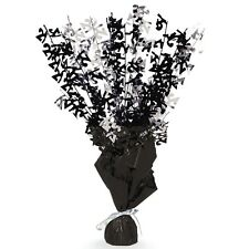 "16"" Happy 21st Birthday Black Sparkle Foil Weight Table Centerpiece Decoration"