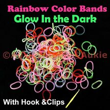 1200pcs GLOW IN THE DARK Loom Bands-FREE Post in Aus[Sent from Sydney]