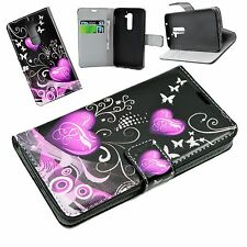 Heart Skin Print Flip Leather Stand Wallet Phone Pouch Case Cover For LG G2 D802