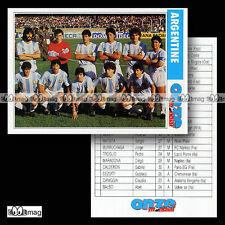 ARGENTINE Equipe ARGENTINA Team World Cup ITALIA 90 - Fiche Football Futbol 1990