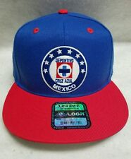 CLUB DEL CRUZ AZUL  SOCCER HAT ROYAL RED  BUILD SNAP BACK  NEW