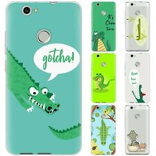 Dessana Comic Crocodile Silicone Protection Cover Case Phone For Huawei