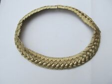 VINTAGE NAPIER? CHUNKY pale GOLDTONE CLLAR CHOKER STATEMENT NECKLACE