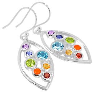 Healing Chakra 925 Sterling Silver Earrings Jewelry SSS CP229