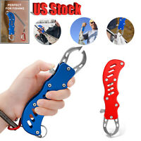 Stainless Steel Fish Grip Lip Gripper Grabber Fishing Holder Tackle Gaff Tool US