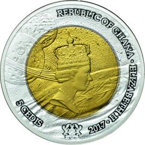 5 Cedis Ghana 2017 - Exploration Tantal-Bimetall Münze 2017