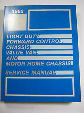 1992 GMC LIGHT SERVICE MANUAL FORWORD CONTROL CHASSIS VAN MOTOR HOME X-9232